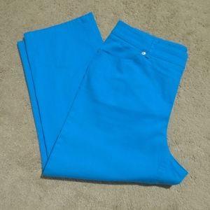 Style & Co Pants - STYLE & CO. Blue Turquoise Denim Capris 12